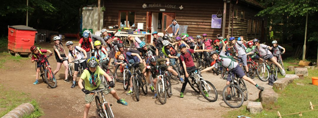 Cabot District Scouts on bikes
